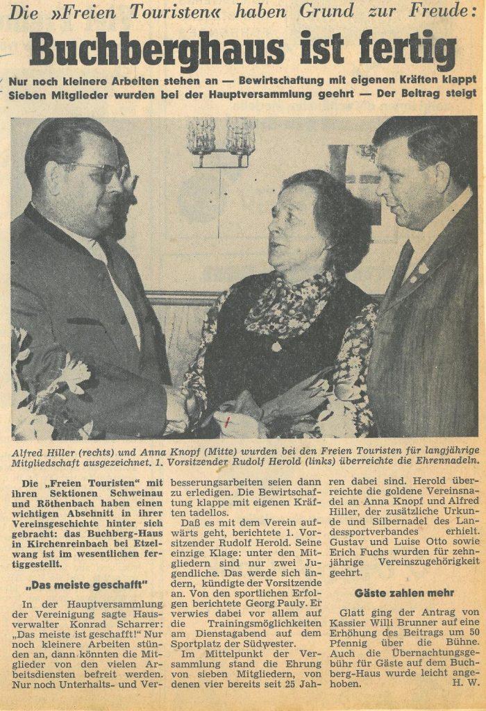 Zeitungsausschnitt 1971