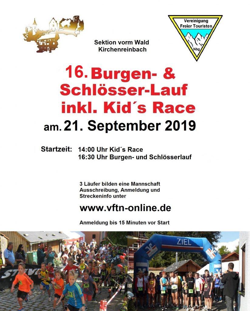Plakat Burgen- und Schlösserlauf 2019