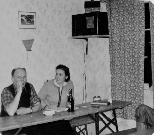 Aufenthaltsraum Buchberghaus ca. 1955